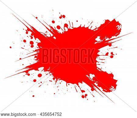 Blood Splat Vector Illustration On White Background
