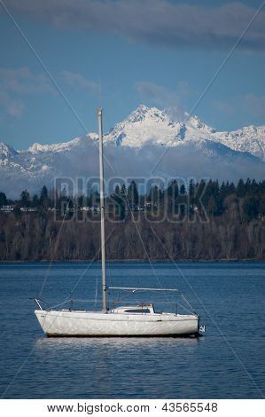 Tranquil setting for sailing-portrait