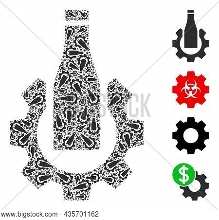 Vector Beer Industry Fractal Is Constructed From Repeating Recursive Beer Industry Items. Recursive