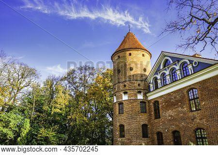 Gothic-renaissance Manor Castle And Garden Landscape Of Raudondvaris