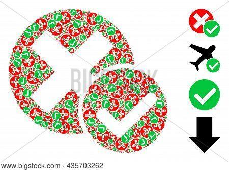 Vector True Negative Fractal Is Designed Of Repeating Fractal True Negative Elements. Recursive Coll