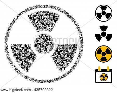 Vector Radioactive Symbol Composition Is Done With Randomized Recursive Radioactive Symbol Icons. Re