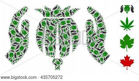 Vector Poppy Care Hands Fractal Is Done Of Randomized Fractal Poppy Care Hands Pictograms. Recursive