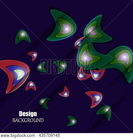 Vector Abstract Background With Colorful Triangle. Eps10