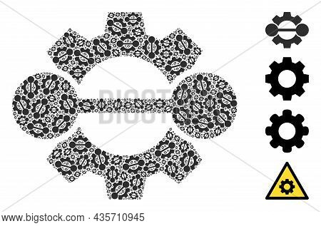 Vector Integration Gear Fractal Is Composed Of Random Fractal Integration Gear Items. Recursion Coll