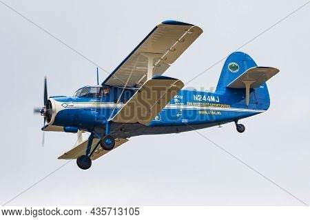 Volkel, Netherlands - June 13, 2013: Civilian Plane At Airport. Aviation And Aircraft. Commercial An