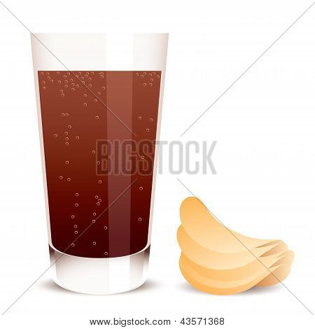 Vector Cola And Potato Chips