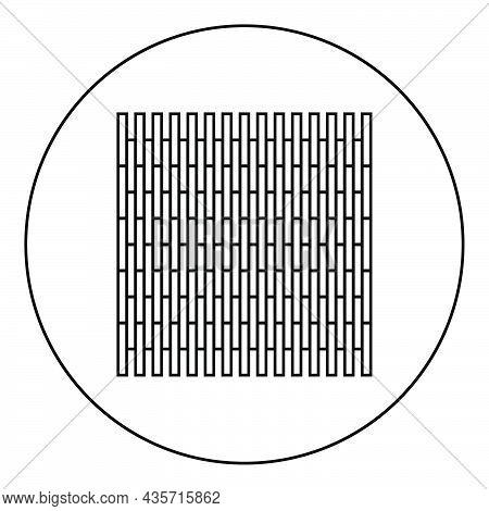 Laminate Plank Parquet Icon In Circle Round Black Color Vector Illustration Solid Outline Style Simp