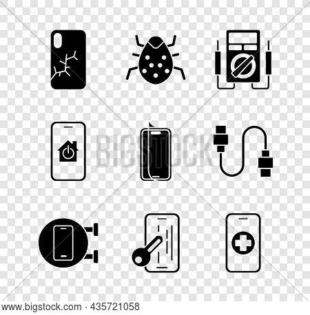 Set Mobile With Broken Screen, System Bug, Multimeter, Phone Repair Service, Glass Protector, Smart
