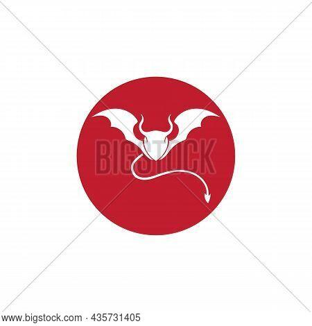 Devil Horn Vector Icon Design Illustration Template