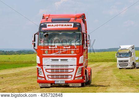 Skutech, Czech Republic, 26 June 2020: Truck Show. Transport Festival In The Czech Republic. Truck F