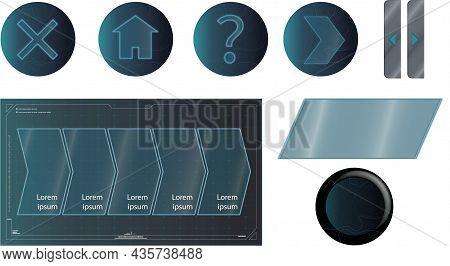 íconos Y Símbolos Azules Para Web E Internet