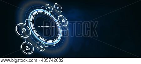 Business Transformation. Future And Innovation Internet And Network Concept 3d Illustration