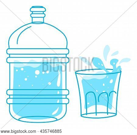 Clean Purified Water In Bottle, Drink Or Beverage