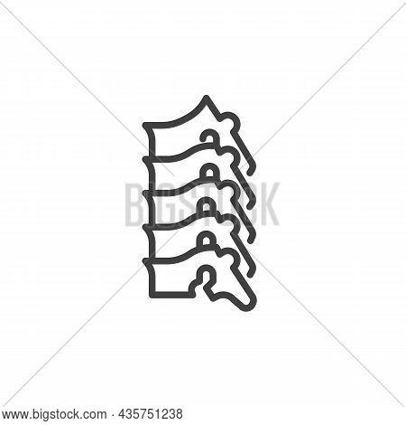 Human Spine Line Icon. Linear Style Sign For Mobile Concept And Web Design. Spine Backbone Outline V