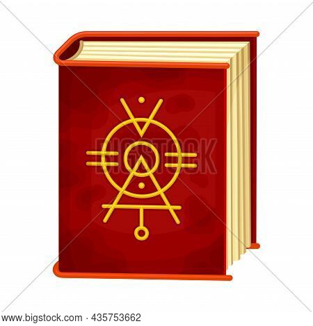 Witchcraft Book With Magic Spells Cartoon Vector Illustration