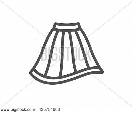 Skirt Line Icon. Clothing Gown Sign. Women Fashion Outfit Symbol. Quality Design Element. Line Style