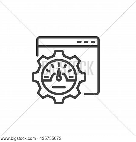 Website Optimization Line Icon. Linear Style Sign For Mobile Concept And Web Design. Webpage Speed O