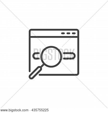 Keyword Research Line Icon. Linear Style Sign For Mobile Concept And Web Design. Seo - Search Engine