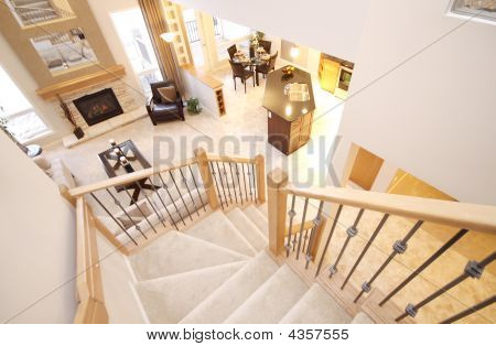 Staircase And Living Room