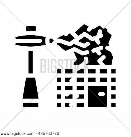 Electromagnetic Equipment Glyph Icon Vector. Electromagnetic Equipment Sign. Isolated Contour Symbol