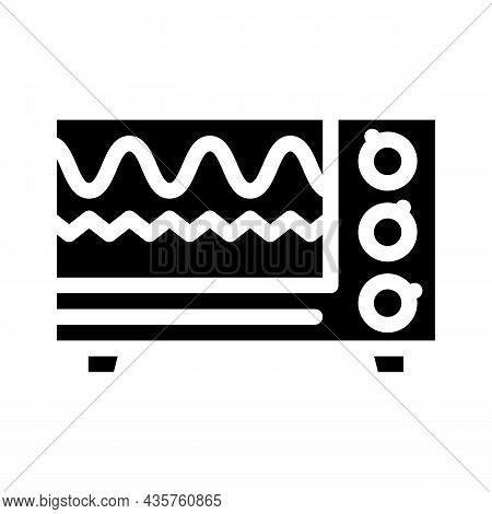 Electromagnetic Waves Checking Equipment Glyph Icon Vector. Electromagnetic Waves Checking Equipment