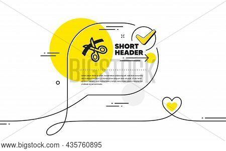 Scissors Icon. Continuous Line Check Mark Chat Bubble. Cutting Ribbon Sign. Tailor Utensil Symbol. S