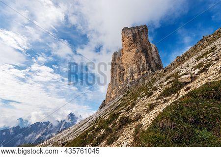Drei Zinnen Or Tre Cime Di Lavaredo (three Peaks Of Lavaredo) And The Mountain Range Of Cadini Di Mi