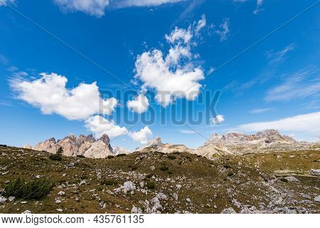 Panoramic View Of The Sesto Or Sexten Dolomites From Tre Cime Di Lavaredo (three Peaks Of Lavaredo).
