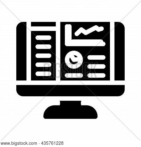 Reporting System Glyph Icon Vector. Reporting System Sign. Isolated Contour Symbol Black Illustratio