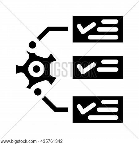 System Monitoring Glyph Icon Vector. System Monitoring Sign. Isolated Contour Symbol Black Illustrat