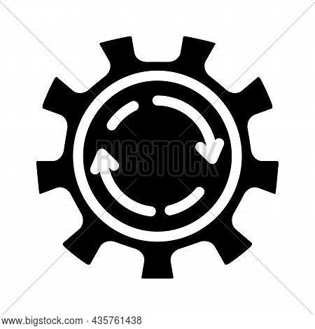 Cogwheel Erp Glyph Icon Vector. Cogwheel Erp Sign. Isolated Contour Symbol Black Illustration