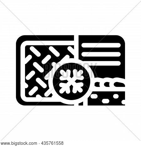 Meat Pie Frozen Dish Glyph Icon Vector. Meat Pie Frozen Dish Sign. Isolated Contour Symbol Black Ill