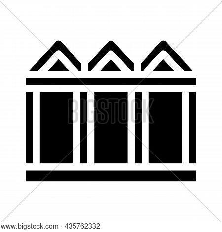 Construction Metallic Material Frame Glyph Icon Vector. Construction Metallic Material Frame Sign. I