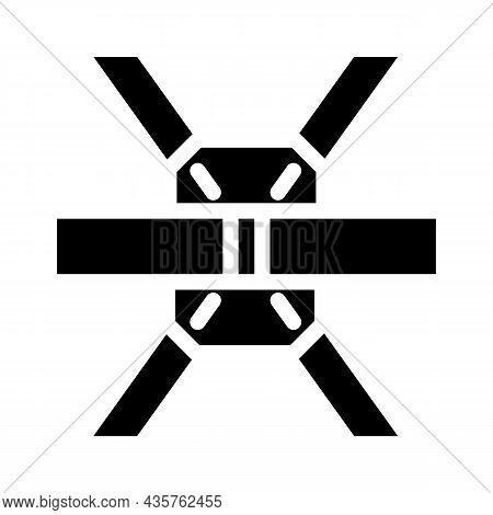 Construction Metallic Part Glyph Icon Vector. Construction Metallic Part Sign. Isolated Contour Symb
