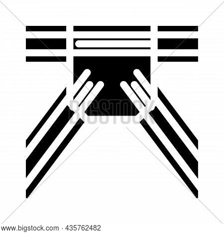 Metal Structure Construction Part Glyph Icon Vector. Metal Structure Construction Part Sign. Isolate