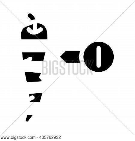Cut Pepper Scale Glyph Icon Vector. Cut Pepper Scale Sign. Isolated Contour Symbol Black Illustratio