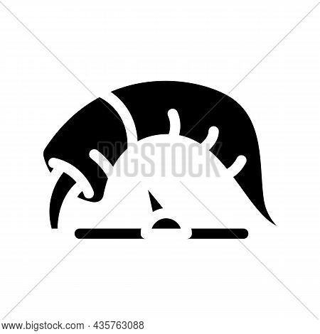 Pepper Low Taste Scale Glyph Icon Vector. Pepper Low Taste Scale Sign. Isolated Contour Symbol Black