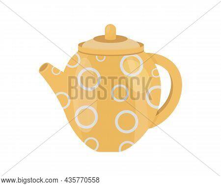 Kettle Cartoon Isolated . Vector Cartoon Icon Electric Teapot. Vector Illustration Of Kettles.
