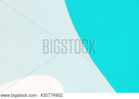 Closeup Of Colorful Turquoise, Gray And White Urban Wall Texture. Modern Pattern For Wallpaper Or Mo
