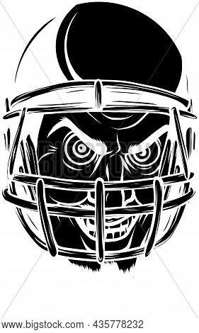 Vector Illustration Of American Football Player Emoticon