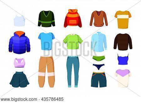 Clothes. Pants Jeans Dress Jeans Jackets Trousers Casual Textile Clothes For Men And Women Garish Ve
