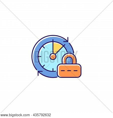 Change Password Rgb Color Icon. Data Protection. Internet Safety Measures. Firewall Settings. System