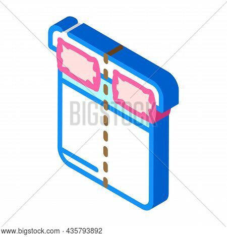 Sleep On Opposite Sides Of Bed Isometric Icon Vector. Sleep On Opposite Sides Of Bed Sign. Isolated