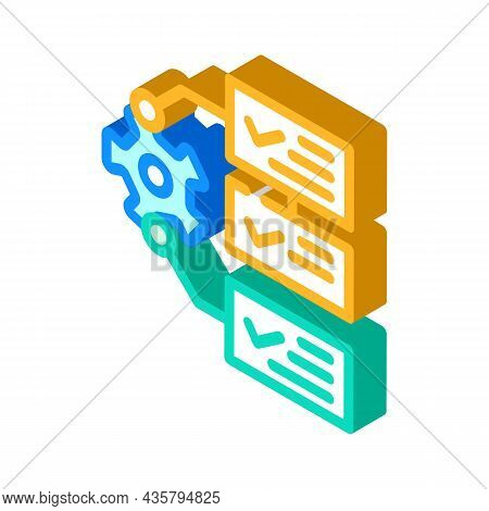 System Monitoring Isometric Icon Vector. System Monitoring Sign. Isolated Symbol Illustration