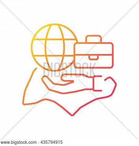 Flexible Labor Law Gradient Linear Vector Icon. Singapore Employment Act. Flexible Work Arrangement.