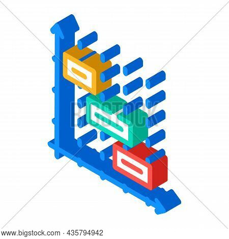 Time Intervals Erp Isometric Icon Vector. Time Intervals Erp Sign. Isolated Symbol Illustration