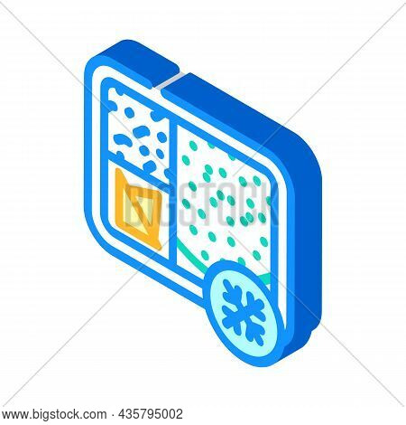 Frozen Lunch Isometric Icon Vector. Frozen Lunch Sign. Isolated Symbol Illustration