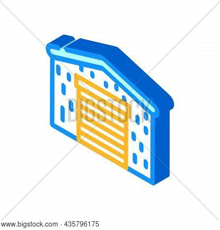 Barn Metal Frame Isometric Icon Vector. Barn Metal Frame Sign. Isolated Symbol Illustration
