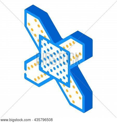 Metal Structure Building Part Isometric Icon Vector. Metal Structure Building Part Sign. Isolated Sy